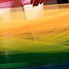Rainbow pride flag abstract from fabric by Sebastian Reinholdtsen