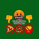 Dieting Makes me Hangery Joypixels Angry and Hungry Emoji by sandyspider