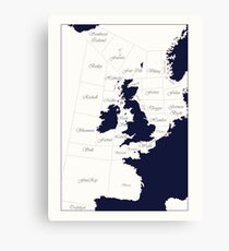 Shipping Forecast Canvas Print