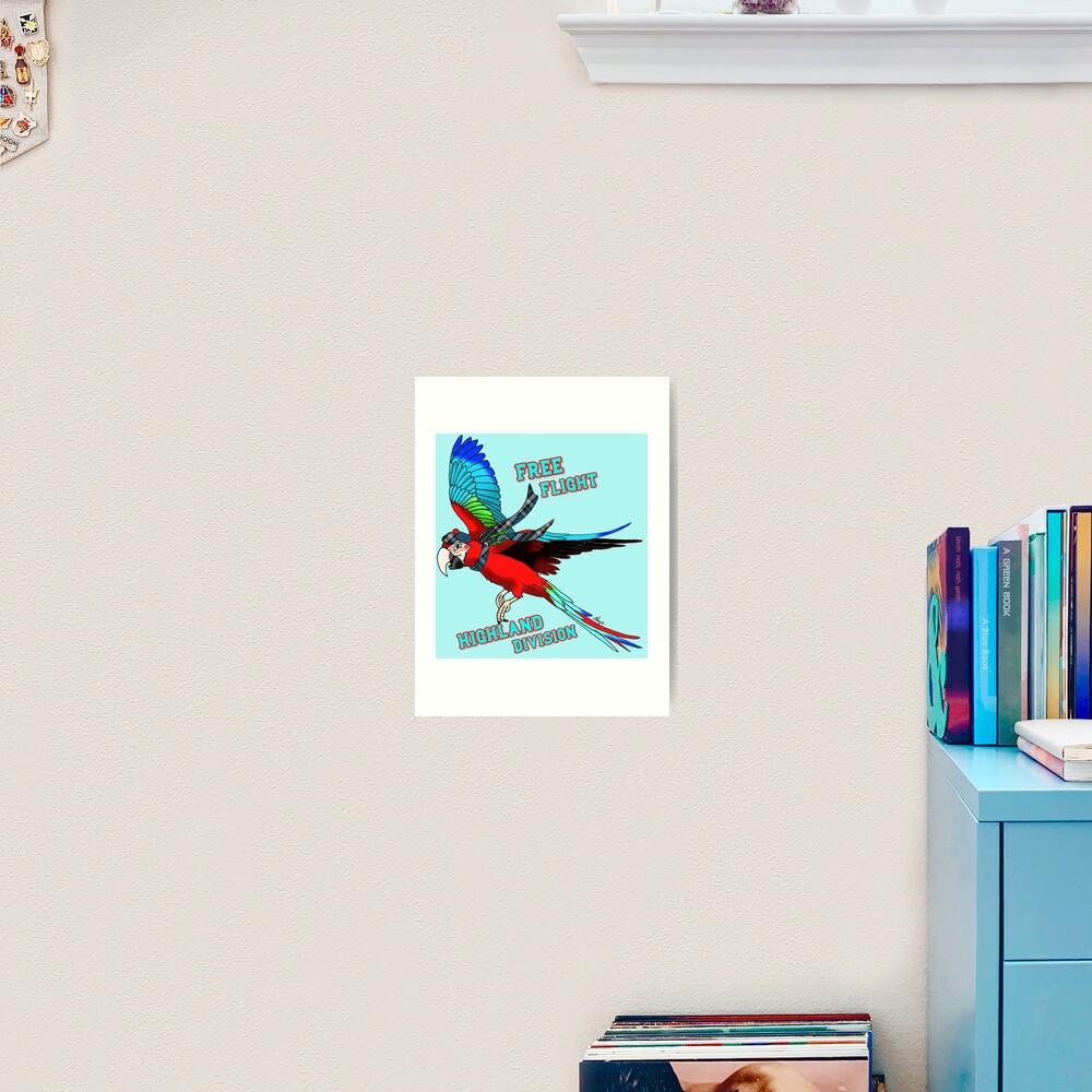 Free-Flight Highland Division Art Print