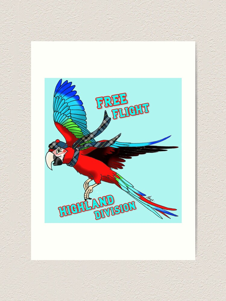 Alternate view of Free-Flight Highland Division Art Print