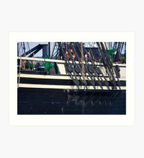 Starboard Lines Art Print