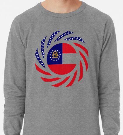 Georgian Murican Patriot Flag Series Lightweight Sweatshirt