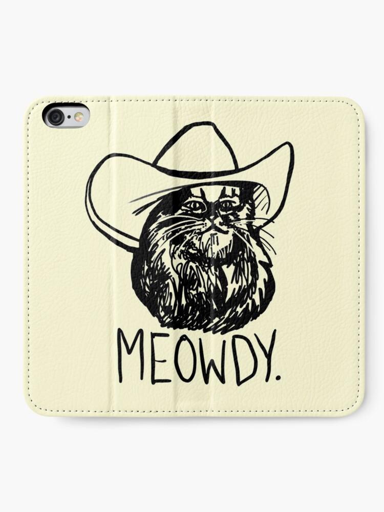 Alternate view of Meowdy Texas Cat Meme iPhone Wallet