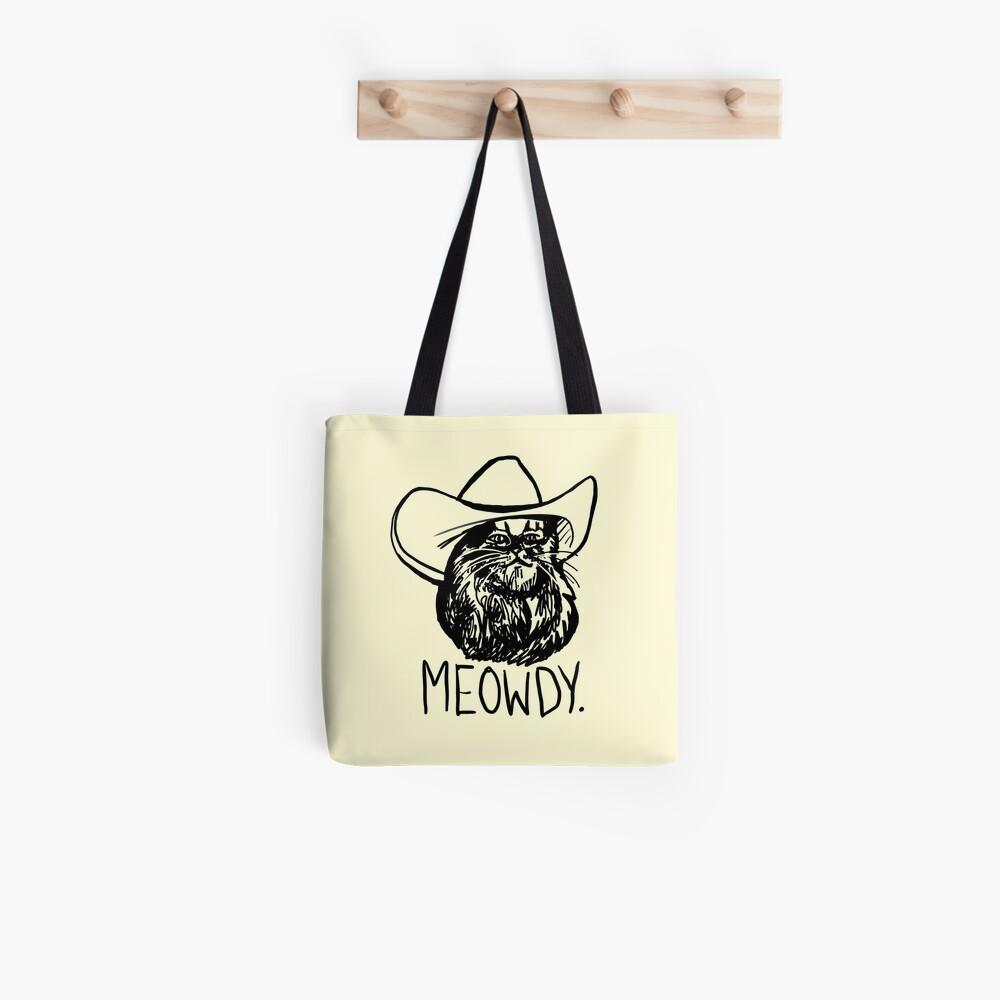 Meowdy Texas Cat Meme Tote Bag