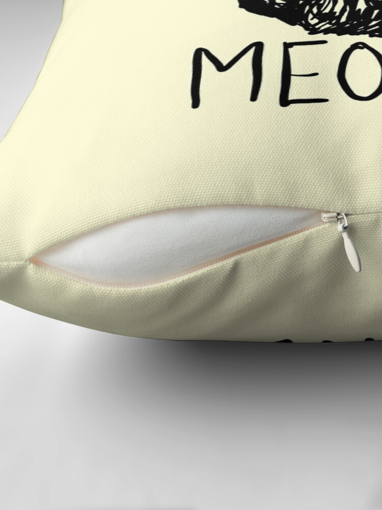 Alternate view of Meowdy Texas Cat Meme Throw Pillow