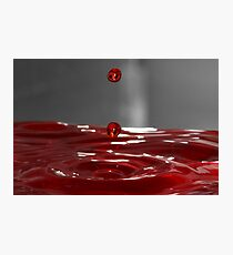 Red Droplet  Photographic Print