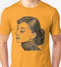 Audrey Hepburn Stippling Portrait T-Shirt