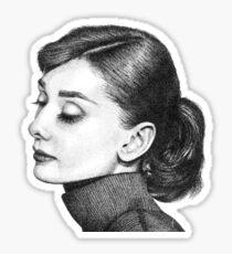 Audrey Hepburn Stippling Portrait Sticker