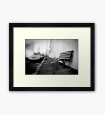 sit here Framed Print