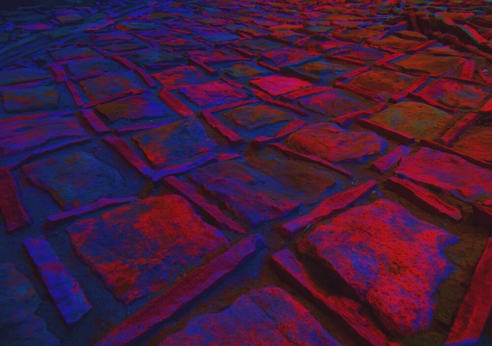 Square Stones Pathway Number 4 by Mike Solomonson
