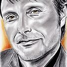 Mads Mikkelsen, the man with golden eyes by jos2507