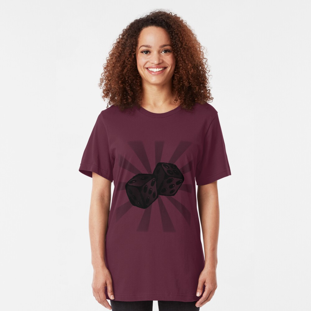 Role the Dice. Slim Fit T-Shirt