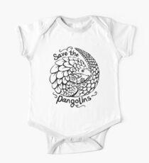 Niedliches Pangolin Geschenk - retten Sie die Pangolins Baby Body Kurzarm