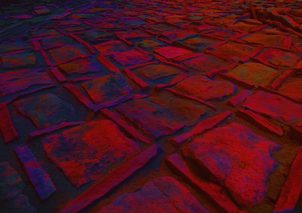 Square Stones Pathway Number 5 by Mike Solomonson