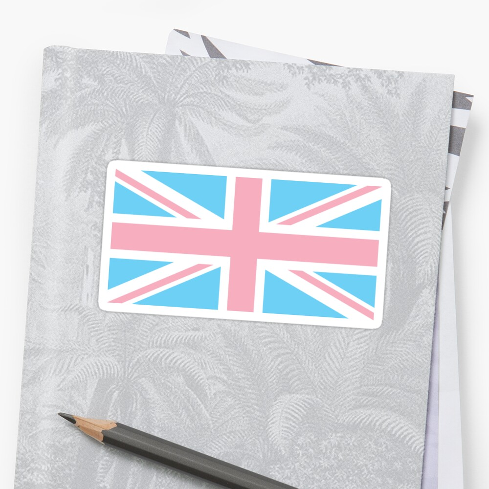 Quot Transgender Uk Flag Union Jack Pale Blue White And