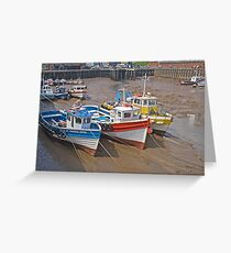 Bridlington harbour Greeting Card