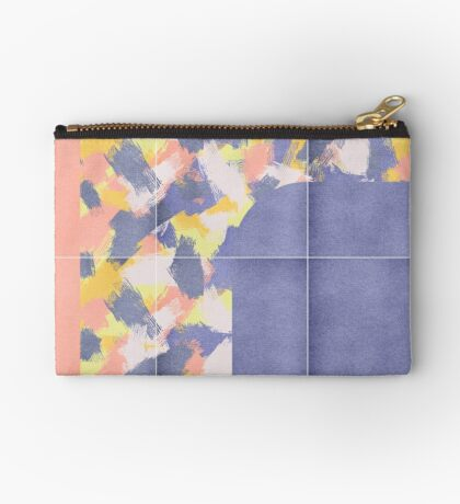 Messy Painted Tiles 01 #redbubble #midmod Zipper Pouch