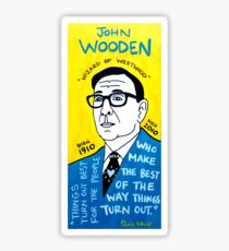 John Wooden Basketball Pop Folk Art Sticker