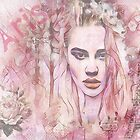 «Bastante rosa pastel París postal Digital Collage» de TeAnne