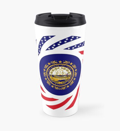 New Hampshire Murican Patriot Flag Series Travel Mug