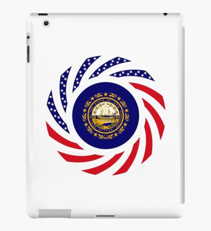 New Hampshire Murican Patriot Flag Series iPad Case/Skin