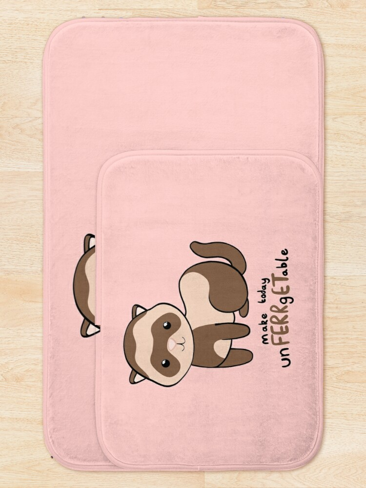 Alternate view of unFERRgETable - Ferret love motivational design Bath Mat