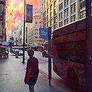 Urban Street Past Present Future by John Fish