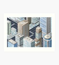 Picture of the city for iPhone Art Print