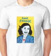 Anne Frank Pop Folk Art T-Shirt