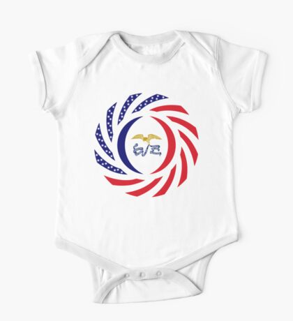 Iowa Murican Patriot Flag Series Kids Clothes