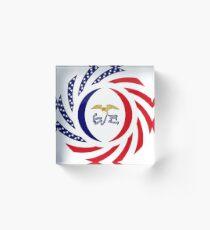 Iowa Murican Patriot Flag Series Acrylic Block