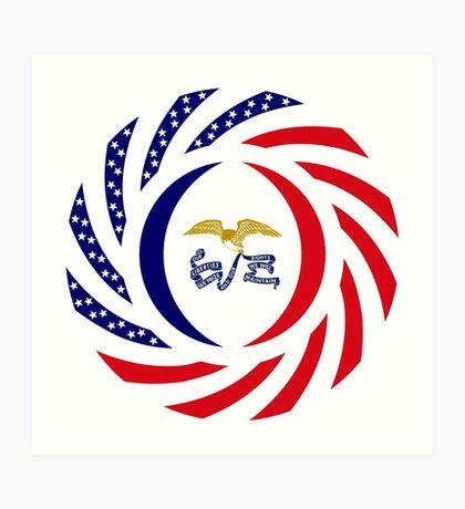 Iowa Murican Patriot Flag Series Art Print