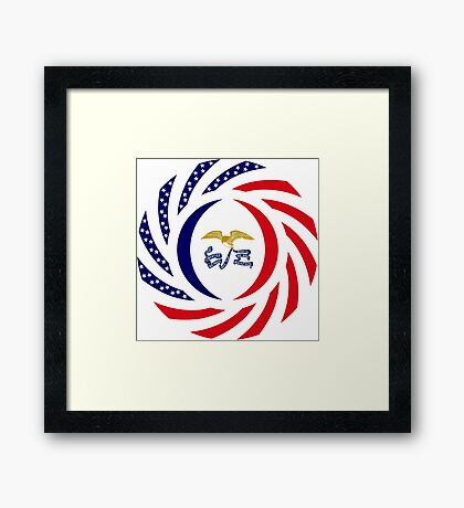 Iowa Murican Patriot Flag Series Framed Print