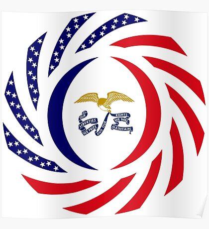 Iowa Murican Patriot Flag Series Poster