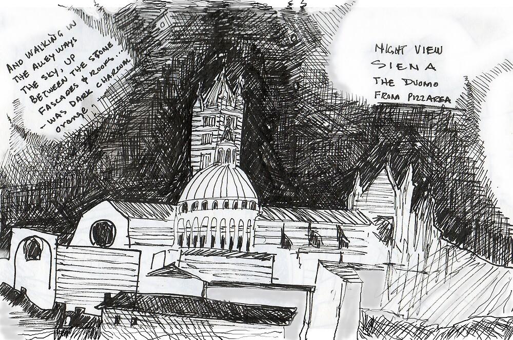 Italy- Siena's Duomo, a night sketch by James Lewis Hamilton