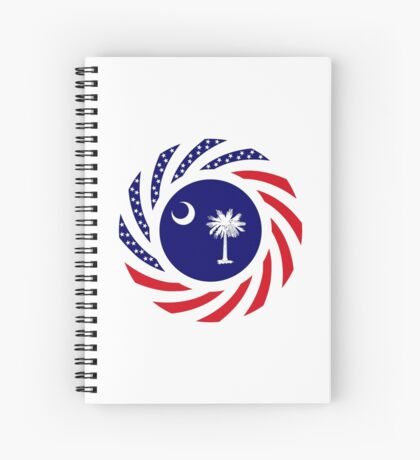South Carolina Murican Patriot Flag Series Spiral Notebook