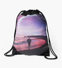 Night Stroll Drawstring Bag