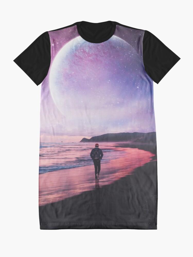 Alternate view of Night Stroll Graphic T-Shirt Dress