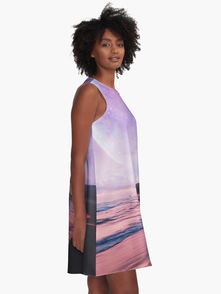 Alternate view of Night Stroll A-Line Dress