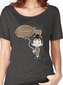 Little Inventor Flying His Airship Women's Relaxed Fit T-Shirt