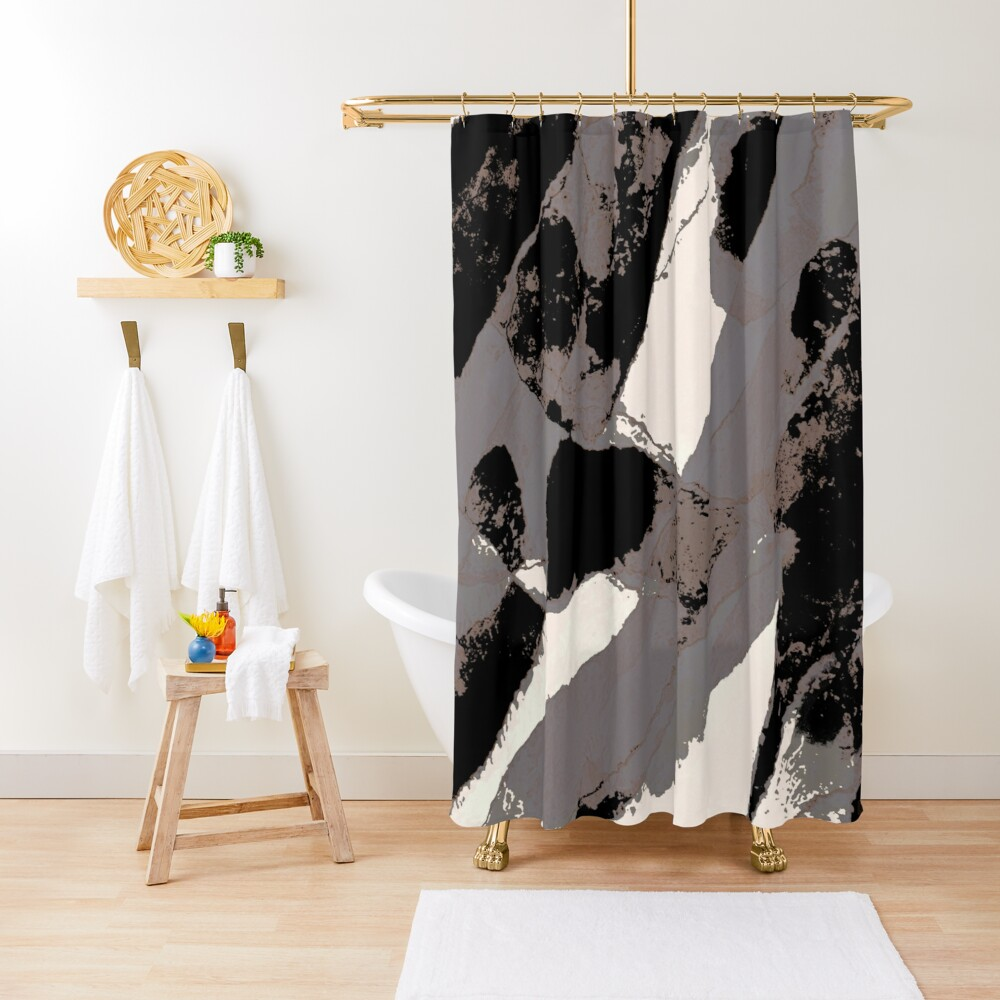 Organic No.1 Abstract #muted #redbubble #artprints #fineart Shower Curtain