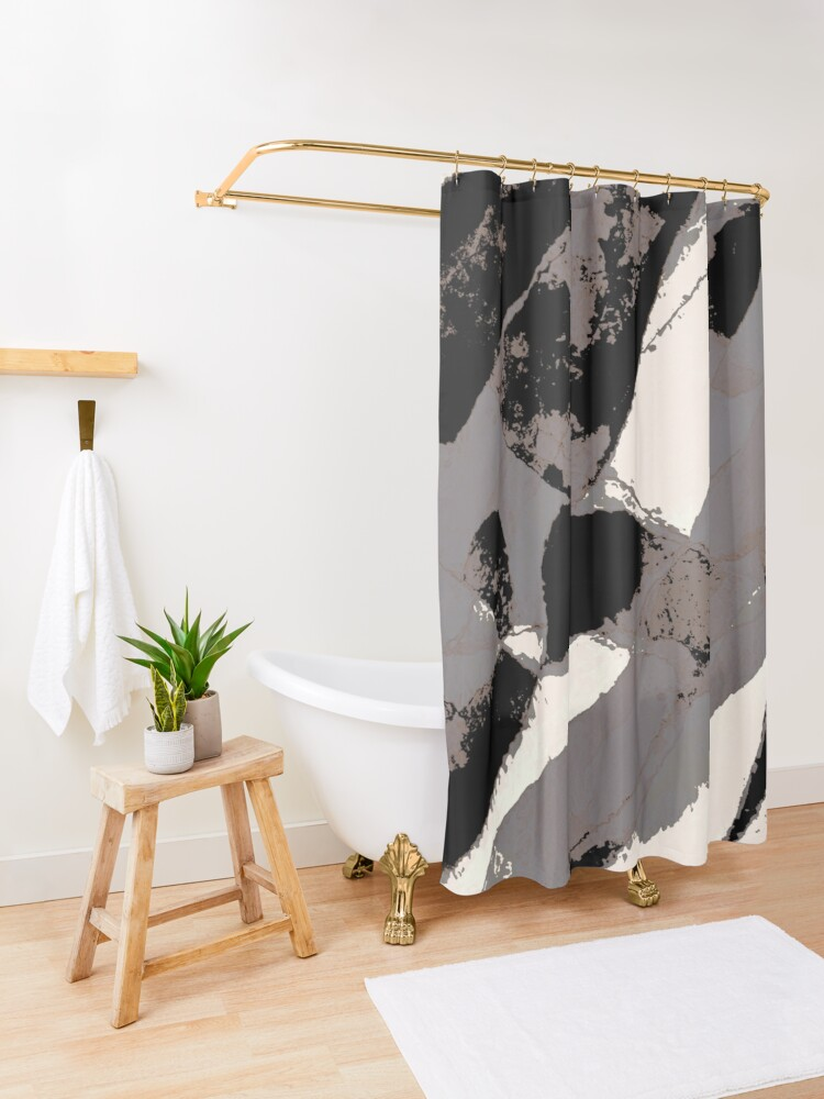 Alternate view of Organic No.1 Abstract #muted #redbubble #artprints #fineart Shower Curtain