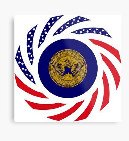Atlanta Murican Patriot Flag Series Metal Print