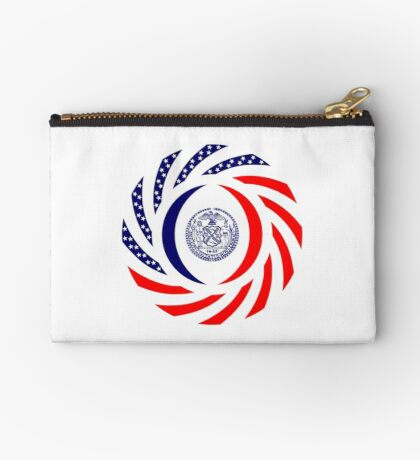 New York City Murican Patriot Flag Series Zipper Pouch