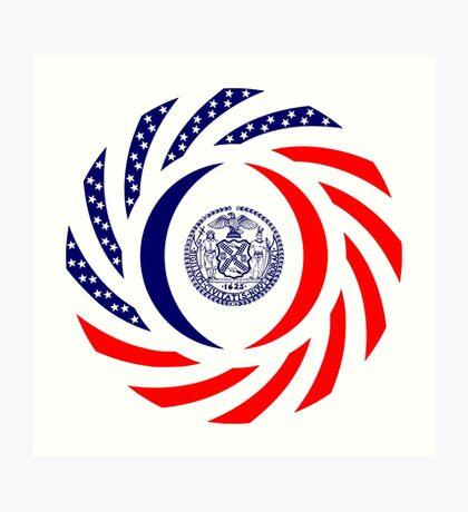 New York City Murican Patriot Flag Series Art Print