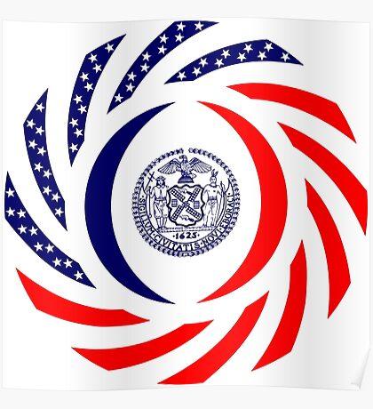 New York City Murican Patriot Flag Series Poster