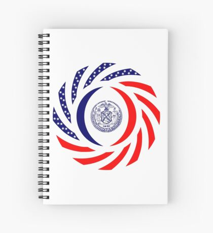 New York City Murican Patriot Flag Series Spiral Notebook