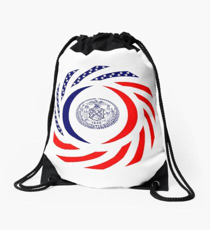 New York City Murican Patriot Flag Series Drawstring Bag