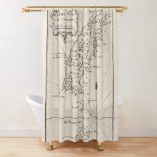 Vintage Ibiza Spain Map (1764) Shower Curtain